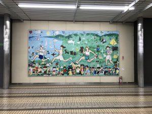 越後湯沢駅構内の絵