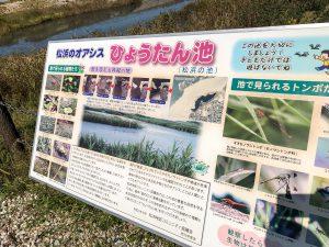 松浜の池 案内看板