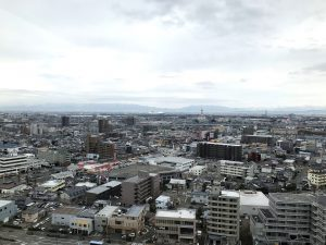 新潟県庁展望回廊より